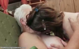 lascivious grandma having lustful sex part4