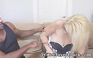 hubby desires darksome cum in sexy wife