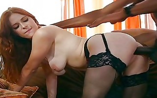 massive darksome surprise for one sexy redhead