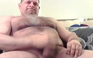 hairy fellow jacks his meat homosexual porn