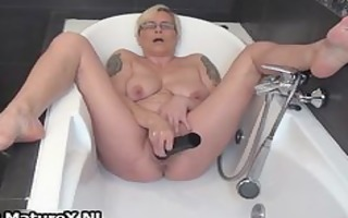 slutty older lady fucking her own constricted