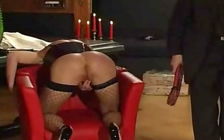 fastened up bitch receives whipped and dominated