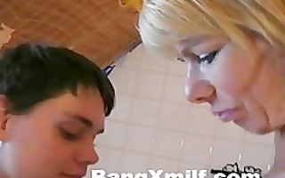 golden-haired d like to fuck with youthful boy